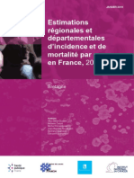 Rapport Estimations Regionales Departementales Incidence Mortalite Cancers France 2007 2016 Bretagne