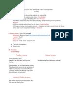 Grade 8 Lesson Plan 1