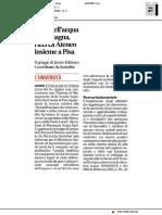 Costi dell'acqua in Romagna, ricerca Ateneo insieme a Pisa - Il Corriere Adriatico del 31 gennaio 2019
