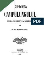 Constantin D. Aricescu - Istoria Câmpulungului, Prima Residență a României. Volumul 2