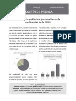 Deseo de La Población Guatemalteca a La Continuidad de La CICIG