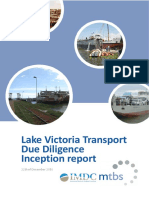Lake Victoria Transport - Due Diligence Inception Report