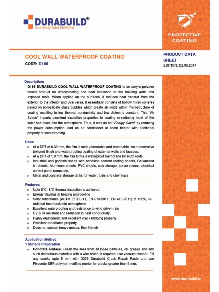 D270 Durabuild Cool Wall Coating   Building Insulation   Concrete