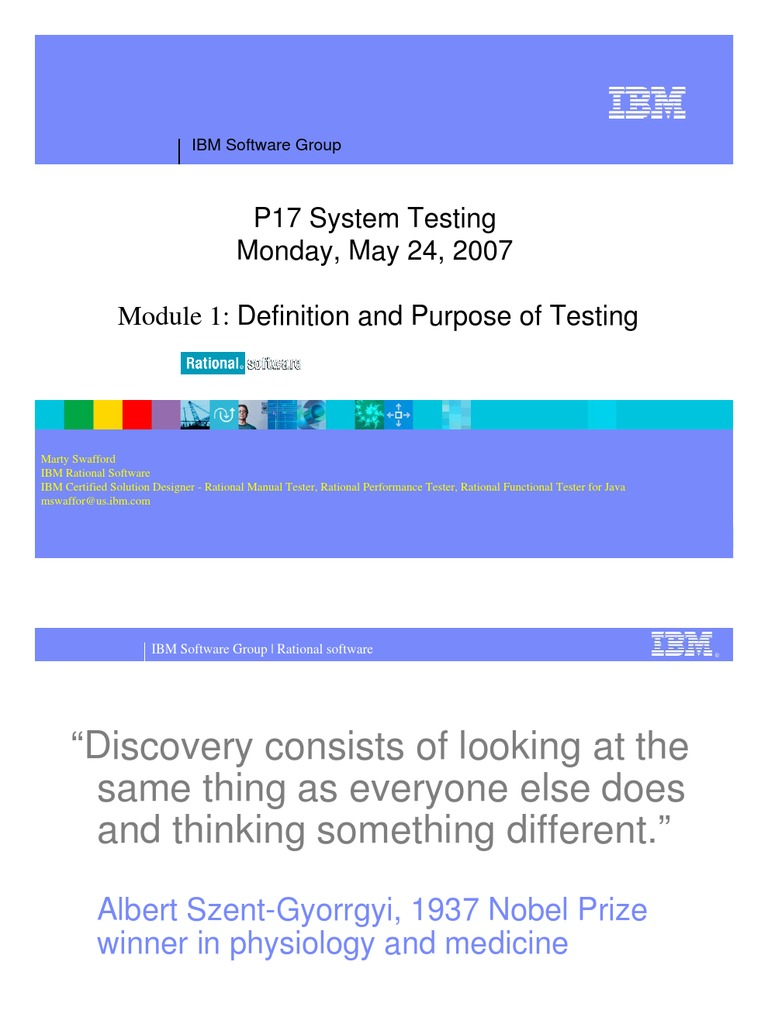 P17 System Testing 01_Definition and Purpose of Testing   Use Case    Software