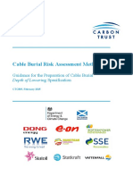 Cable Burial Risk Assessment Guidance