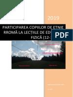 CIUREA CĂTĂLIN, PARTICIPAREA COPIILOR DE ETNIE RROMĂ LA LECȚIILE DE EDUCAȚIE FIZICĂ (12-13 ANI)