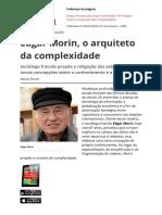 Edgar Morin o Arquiteto Da Complexidade