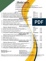 obedné menu  04.02.   - 08.02.2019