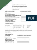 Temario del Examen de Comunicación Oral y Escrita