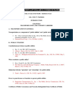 TRANSPORTATION LAW Syllabus (Course Outline) - University of Asia & the Pacific Institue of Law - Prof. Alvin T. Claridades