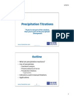 Precipitation Titrations General