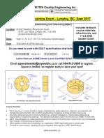 Axymetrix Level 1 GD&T Course Flyer Sep 2017