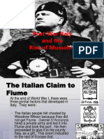 IB- Post War Italy and the Rise of Mussolini
