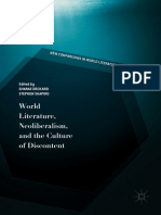World Literature, Neoliberalism, and the Culture of Discontent