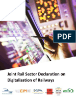 171109 Joint Rail Sector Declaration on Digitalisation of Railways