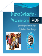 CCC 07 PPT Vida Em Comunhao-Bonhoeffer - Judith e Jorg