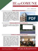 Notizie Dal Comune di Borgomanero del 1° Febbraio 2019