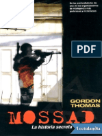 Mossad La Historia Secreta - Gordon Thomas