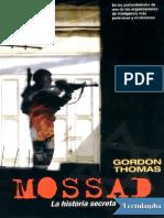 Mossad La Historia Secreta - Gordon Thomas