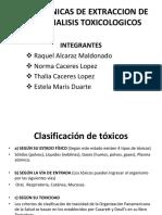 Tecnicas de Extraccion de Analisis Toxicologicos