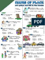 142668285 4 Ficha de Trabalho Prepositions of Place 2