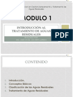 Modulo 1 Introduccion Aguas Residuales. Enero19