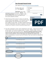 course request selection through parent portal