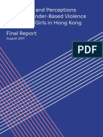 Knowledge and Perceptions towards Gender-Based Violence of Minority Girls in Hong Kong Final Report