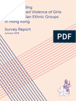 Understanding Gender-based Violence of Girls of South Asian Ethnic Groups in Hong Kong Survey Report