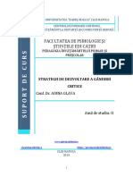 PLR3204-Suport Curs-Strategii de Dezvoltare a Gandirii Critice
