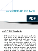 Study About Hr Practices of Icici Bank