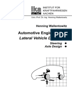 Automotive Engineering II - Lateral Vehicle Dynamics