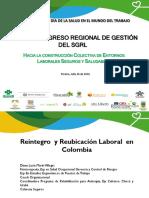 3Reintegro Laboral en Colombia Congreso Pereira