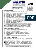 Material Motoniveladoras Checklist Chequeo Diario Niveles Limpieza Engrase Ajustes Inspecciones Semana Chequeo