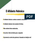 CLH 01 PPT Alfabeto Hebraico