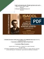 bucarest isaccl 15 janvier 2019 affiche et programme