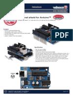 MegaMoto Plus Motor Control Shield for Arduino