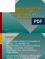 La integración de las políticas de marketing y
