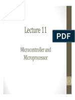 Lecture 11 - Microcontroller and Microprocessor