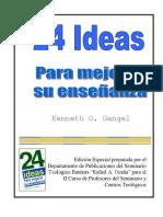 Gangel, 24 Ideas Para Enseñar (1)
