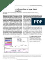 Large Influence of Soil Moisture on Long-term Terrestrial Carbon Uptake (Green 2019)
