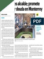 31-01-19 Adrián ya es alcalde; promete no generar deuda en Monterrey
