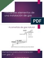 Principales Elementos de Una Instalación de Gas