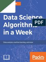 Data Science Algorithms in a Week