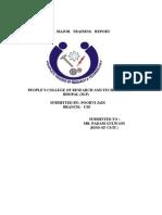 Poorvi's Training Report