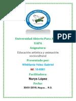 Tarea 2 de Educacion Artistica y Animacion Sociocultural.