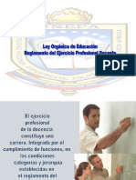LOEReglamento Del Ejercicio Profesional Docente