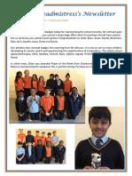 Newsletter No 64 - 1st February 2019