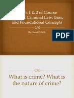 Basic and Foundational Elements of Crime