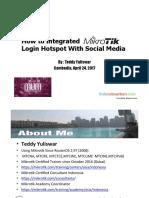How to Integrated Mikrotik Login Hotspot With Social Media